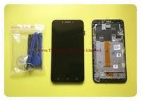 Wyieno 100% протестированный черный датчик для Alcatel Pixi 4 5,5 OT5012 сенсорный экран дигитайзер с ЖК дисплеем полная сборка Рамка