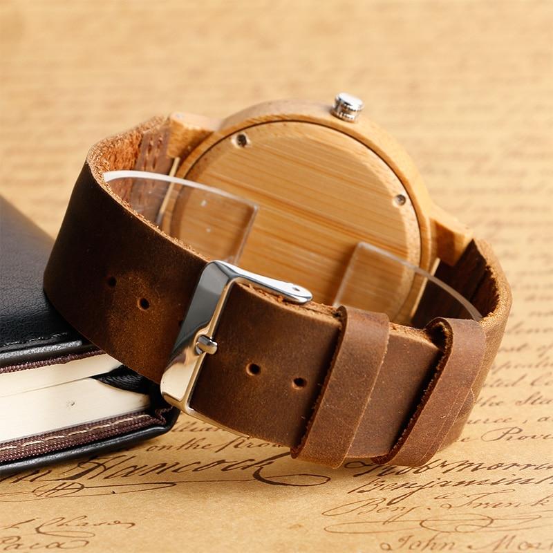 Unikatowy łosia renifera Dial ręcznie robiony Natura drewno zegarek - Męskie zegarki - Zdjęcie 4
