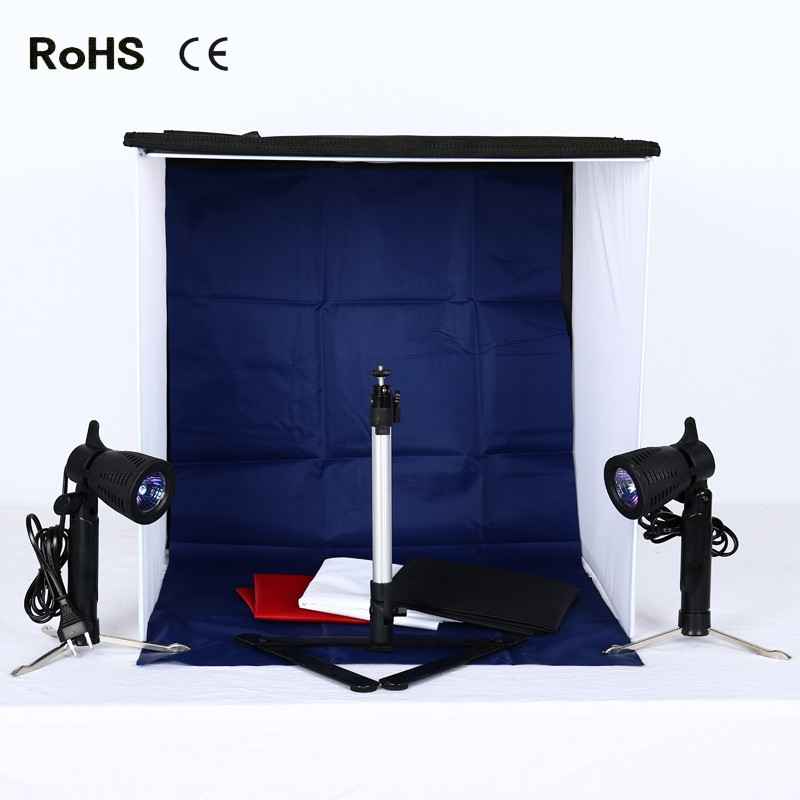 50cm*50cm/20inch*20inch Photo Studio Shooting Tent Light Square Soft box +portable bag + 4 Backdrops