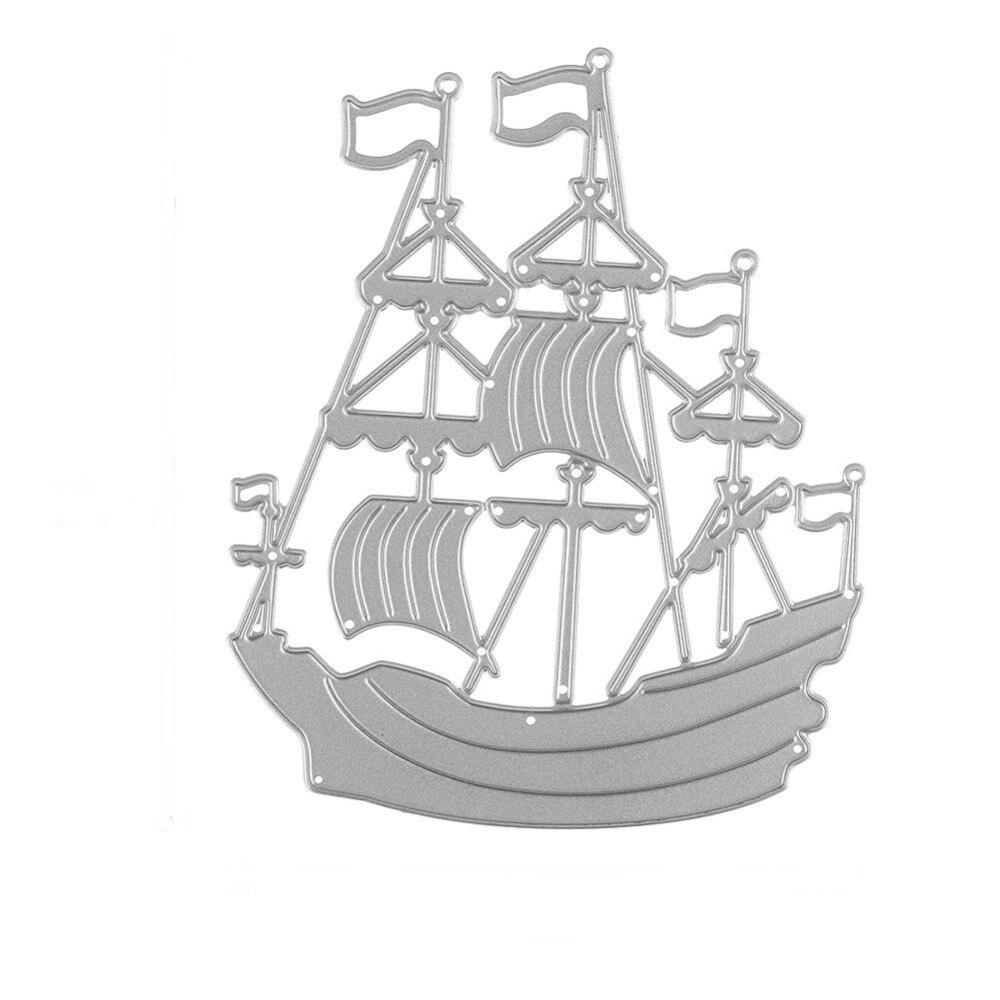 Metal Craft Ocean Sailing Boat Paper Die Cutting Dies For Scrapbooking DIY Valentine's Day Wedding New Year Greeting Cards