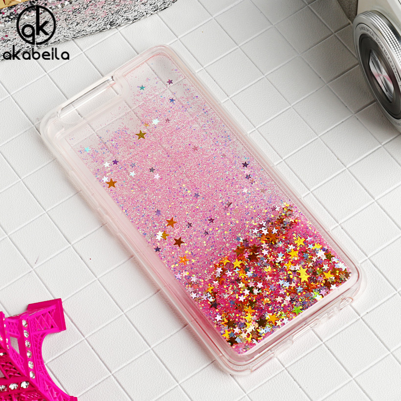 AKABEILA Liquid Glitter Soft TPU <font><b>Phone</b></font> <font><b>Cases</b></font> For <font><b>Huawei</b></font> P10 Plus Vicky 5.5 inch Covers Silicone PC Bags Back Shell Skin