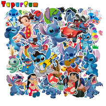 55Pcs Classics Lilo Stitch Cute Cartoon Waterproof Stickers Scrapbooking For Luggage Laptop Notebook Car Motorcycle Toy