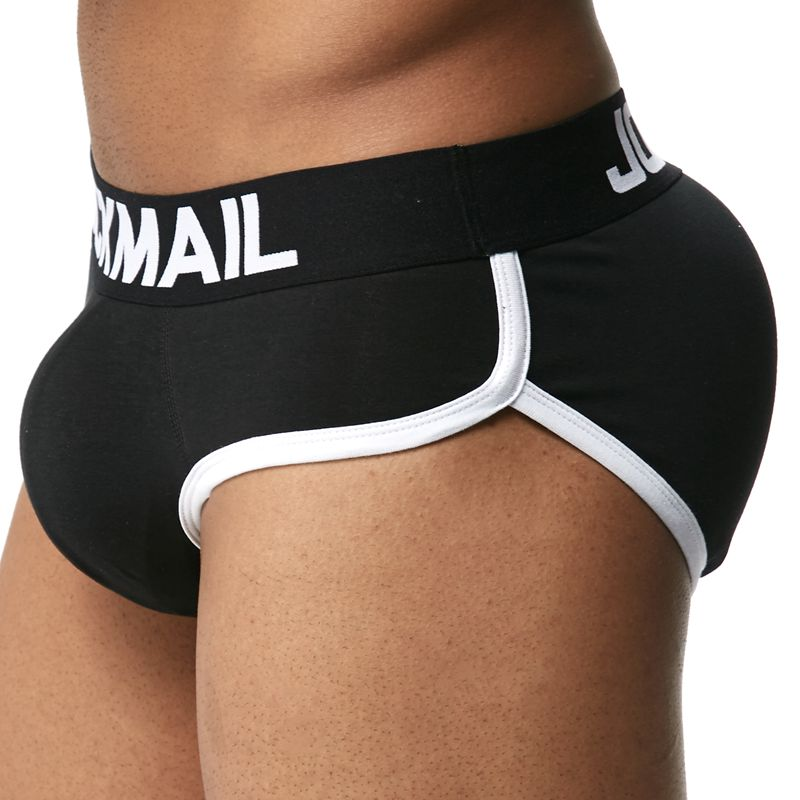 Jockmail 3D Padded Enhance Sexy Underwear Men Briefs Shapewear Gay Underwear Push Up Butt Lifter Gift Front Back Removable Pad