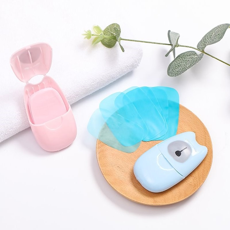 Creative 50 Sheets Soap Paper Portable Travel Accessories Multifunction Unisex Security Security Parts Suitcase Organizer Buckle