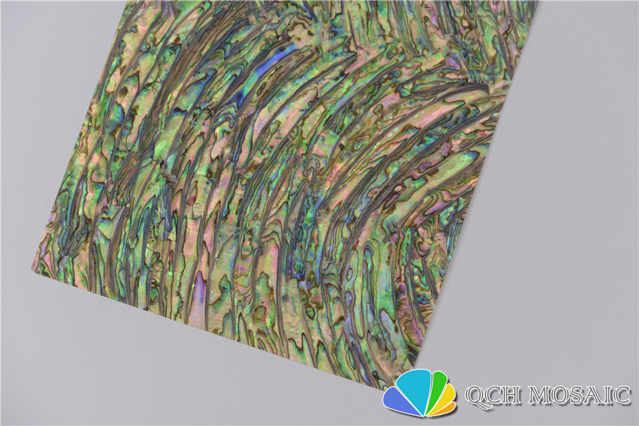 New Zealand abalone paua shell mother of pearl laminate sheet for musical instrument and wood inlay cambered pattern in Wallpapers from Home Improvement
