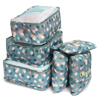 TFBC 6Pcs Waterproof Clothes Travel Storage Bags Packing Cube Luggage Toiletry Bag Organizer Pouch Home Organization
