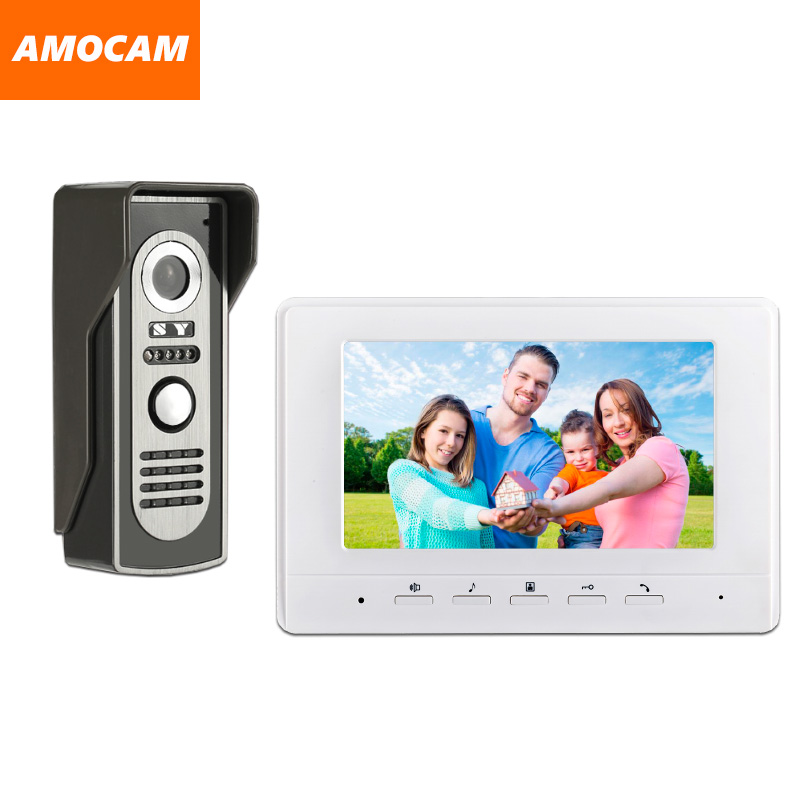 7 Monitor Video Doorbell Door Phone Kit IR Night Vision Aluminum Alloy Door Camera Video Intercom interphone system for villa