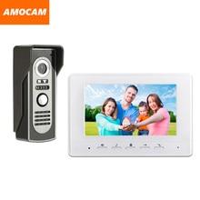 7″ Monitor Video Doorbell Door Phone Kit IR Night Vision Aluminum Alloy Door Camera Video Intercom interphone system for villa