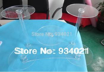 Elegant Crystal Clear 5 Tier Acrylic Cake Stand Party Decoration Cake Stand Wedding Decoration