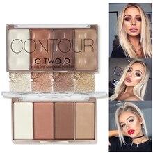 O.TWO.O 4Colors Face Shading Powder Contour Bronzer Highlighter Contour Palette Set Makeup Face Contour Grooming Pressed Powder