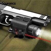 טקטי Red Dot Sight לייזר עם 200LM CREE פנס LED קומבו 2in1 עם שלט רחוק אקדח רובה לרובה ציד