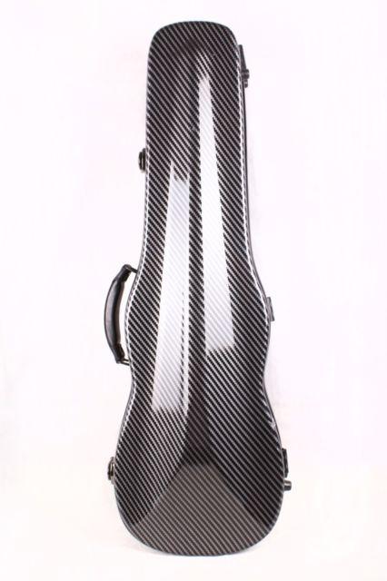 Один чехол из углеродного волокна для скрипки 4/4 Размер Чехол из углеродного волокна крепкий светильник прочный черный цвет белый цвет - Цвет: black color