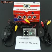 цена на BigBigRoad For Peugeot 206 207 306 307 308 406 407 5008 Partner Tepee Wireless Camera Car Rear View Reverse Parking Camera