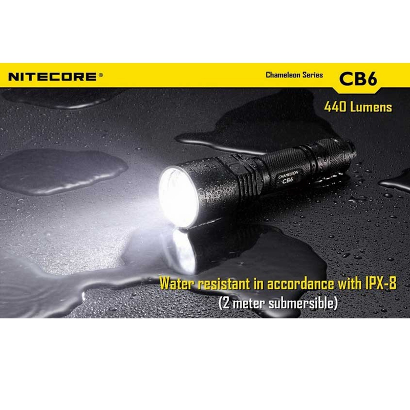 Nitecore CB6 Waterproof 440Lm Chameleon Series Tactical XP-G2 LED light lamp 18650 torch Flashlight Not Battery Not Battery футболка converse converse co011ebskb75