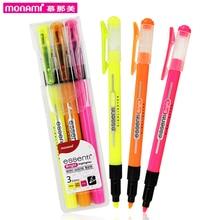 3pc/lot Assorted Colors Korean School Supplies Essenti Bright Colorful Highlighter DIY Permanent Marker Pen material escolar