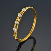 New Fashion Indian Bracelets Bangles 2017 Gold Color Luxury Rhinestone Bracelet For Women Ladies Jewlery Female