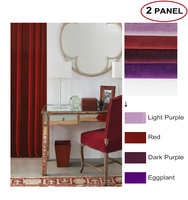 MOMO Room Darkening Curtains Matte Velvet Solid Fabric Back Tab Curtains Window Drapes For Bedroom With Custom Size (2 Panels)