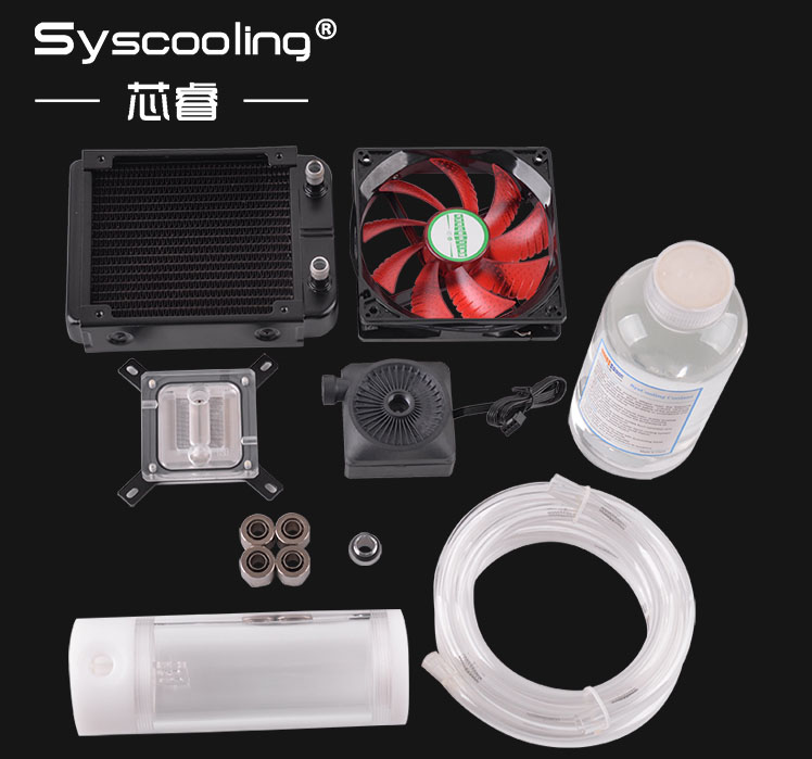 Syscooling Tube Flexible Kits De Refroidissement No 1 Intel CPU En Aluminium ventilateur LED offre spéciale!!!!