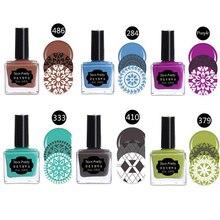 1 Bottle BORN PRETTY 15ml Nail Stamp Polish Stamping Nail Polish Stamping Nail Lacquer for Nail Art Manicure 6 Colors
