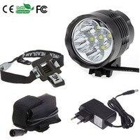 Waterproof front torch headlamp 5x XML T6 LED ultra bright 7000 Lumens bike light set