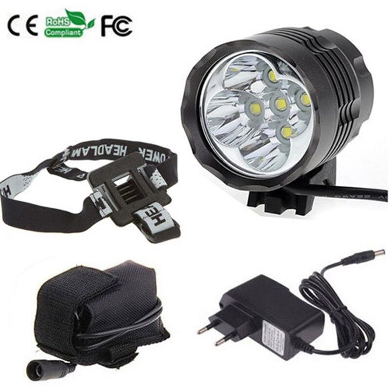 Waterproof front torch headlamp 5x XML T6 LED ultra bright 7000 Lumens bike light set sitemap 36 xml