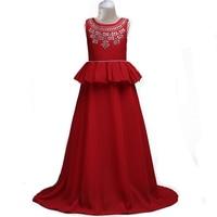 Berngi New Teens Party Prom Dress Chiffon Wedding Flower Girl Dress Kids Elegant Princess Sleeveless Pageant