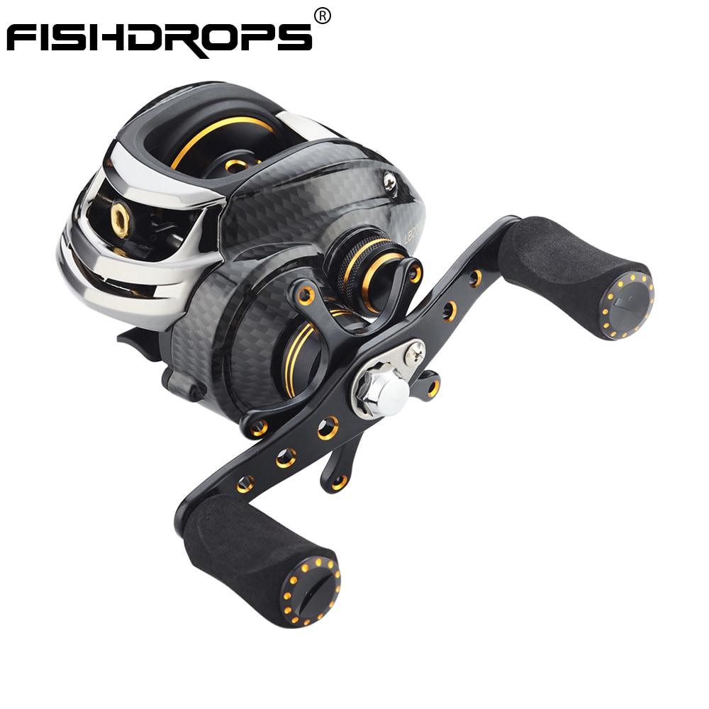 FISHDROPS LB200 Baitcasting Reel 18 Ball Bearings Fishing Bass Fishing Left Handed Right Hand Bait Casting