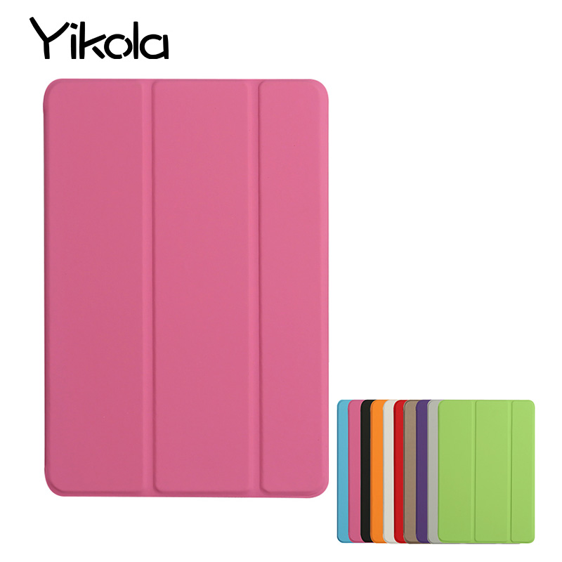 10Pcs For I pad mini 1 2 3 4 Smart Sleeveless Case Simple Solid Color For Apple air2 5 6 Shell For I PAD pro 9.7 12.9 inch Cover