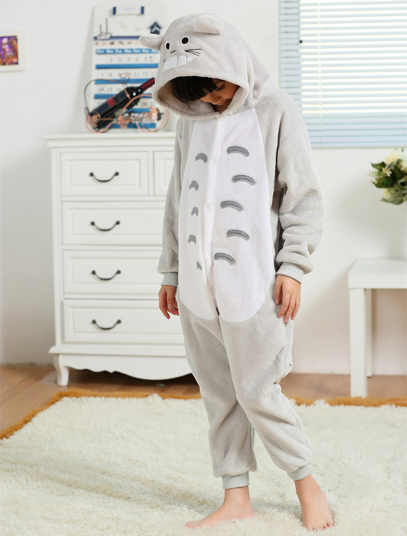 My Neighbor Totoro Flannel Costumes Jumpsuit For font b Children b font Kids Onesie font b