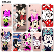 Cute Minnie For Fundas iPhone 7 case 6 6S 8 8Plus X 5 5S SE Cute Mickey Soft silicone TPU for coque iPhone 5S