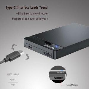 """Внешний жесткий диск SATA III к USB3.0 type-C 2,5 """", корпус жесткого диска hd для ноутбука/настольного компьютера 7/9, 5 мм, Samsung/WD hdd корпус"""