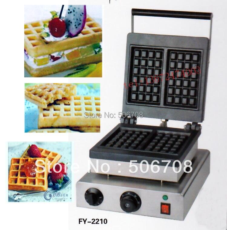 Livraison gratuite 110 v 220 v 2 pcs/plaque Électrique Belgique waffe maker machine