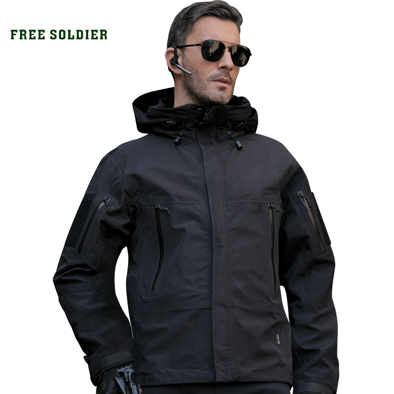 FREE SOLDIER outdoor sports tactical military men jacket winter cloth windproof breathable Hooded Thick warmth coat