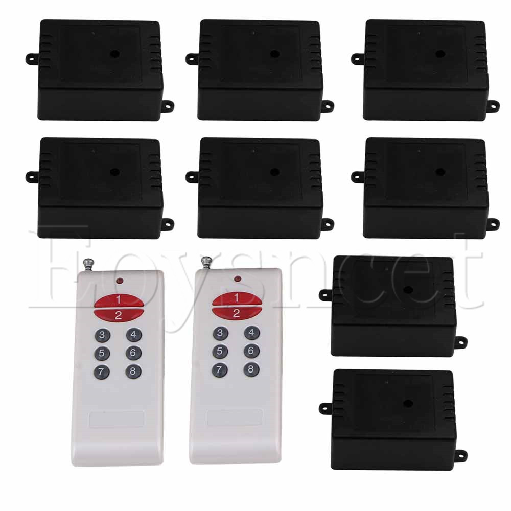 150M Door 8 Receivers White-Key Remote Control Switch 12V 1CH 433MH150M Door 8 Receivers White-Key Remote Control Switch 12V 1CH 433MH