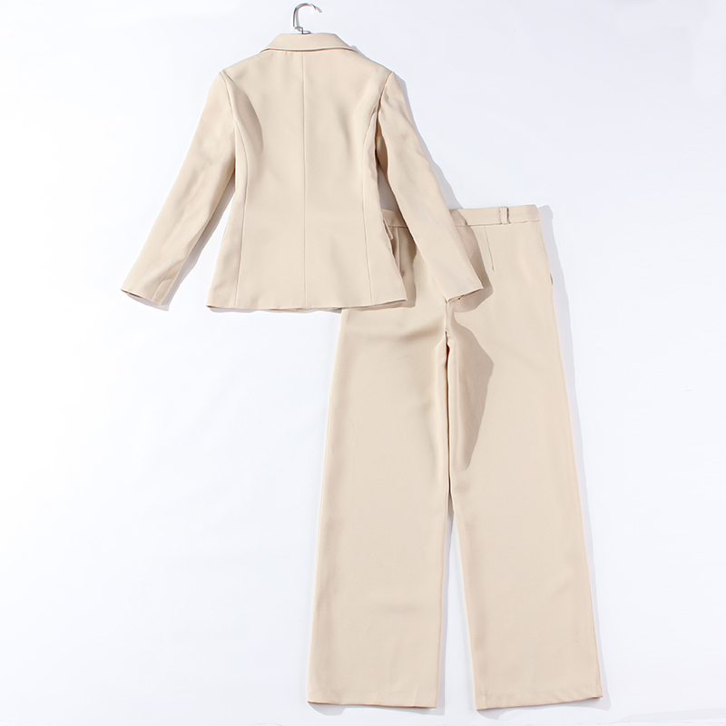 2019 high quality women 39 s office suits Casual jacket and trousers Women 39 s classic suit Two piece solid wide leg pants in Pant Suits from Women 39 s Clothing