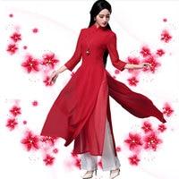 Japanese Ao Dai Three Quarter Kimonos Direct Selling Polyester Women Ao Dai Haori 2019 New Sleeve Vietnam Aodai Cheongsam Dress