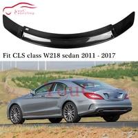 W218 RT Style Carbon Fiber Spoiler Wing Trunk Boot Lip for Mercedes CLS C218 4 door Sedan CLS350 CLS400 CLS500 2011 2017