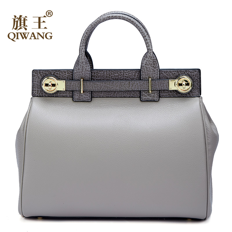 Qiwang High Qualty Real Leather Handbag Women Genuine Leather Tote Handle Bags Luxury Fashion Brand Designer Bag for female qiwang brand women bag genuine leather women shopping tote bag can change shape real leather handbag for women luxury
