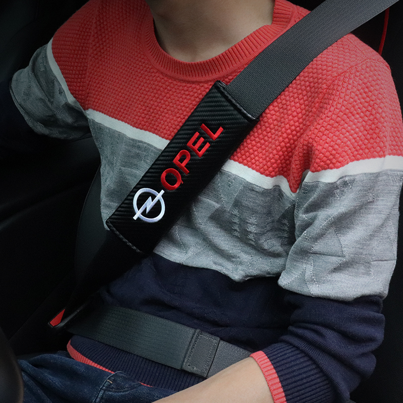 corsa astra vectra zafira 2x RED Seat Belt Shoulder Cover Pads For VAUXHALL