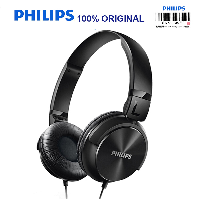 Philips Wired Headphone SHL3060 with Bass 3.5mm Plug Adjustable Headband Music & Movie for Galaxy 8/8+ Official Certification