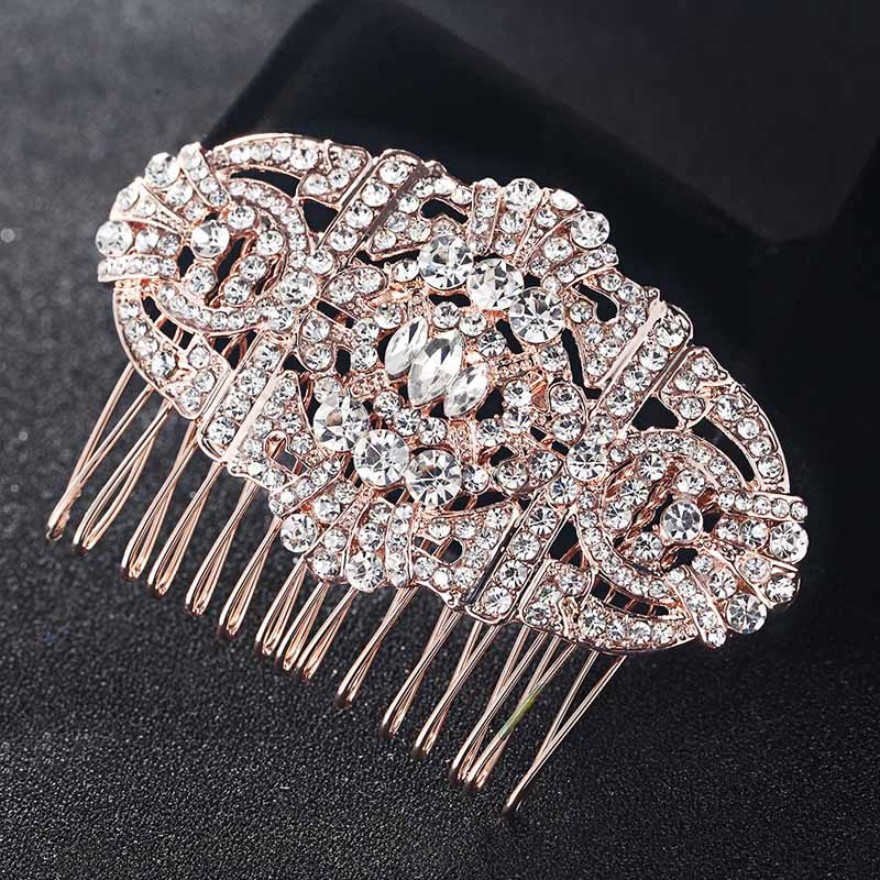 2017 New Arrival Hair Combs Accessories Women Hairpins Tiara Rhinestone Crystal Head Jewelry for Gifts Wedding hair Combs Bijoux