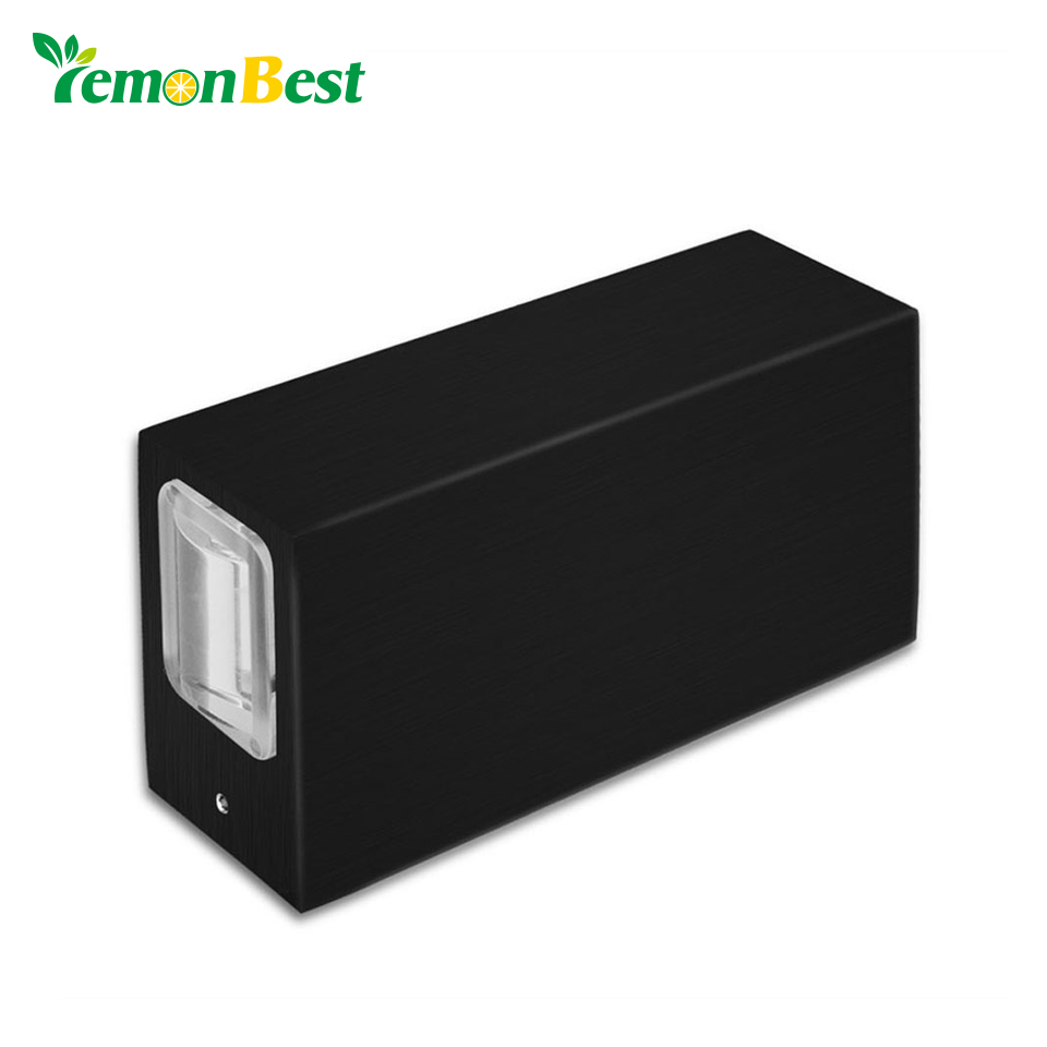 Lighting Basement Washroom Stairs: LemonBest 10W Rectangle LED Wall Lamp Up And Down Light