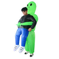 Green Ghost Inflatable Costume Suit Adult Funny Blow Up Suits Party Fancy Dress Dark Death Catch Me Horror Halloween Costumes