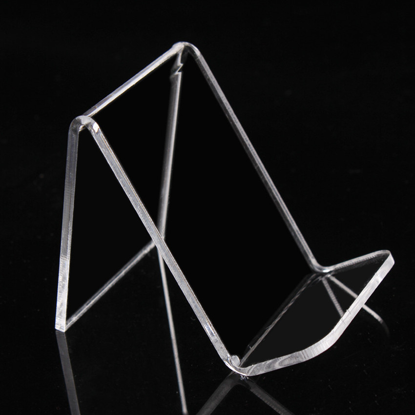 L55mm Acrylic T3mm Purse Wallet Bag Iphone Book Display Exhibition Rack Holder StandS One Tier