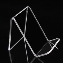 Free Shipping Acrylic Thick 3mm Purse Wallet Bag Iphone Book Display Rack Holder Stand One Tier Guesset 25mm 10pcs Qualified