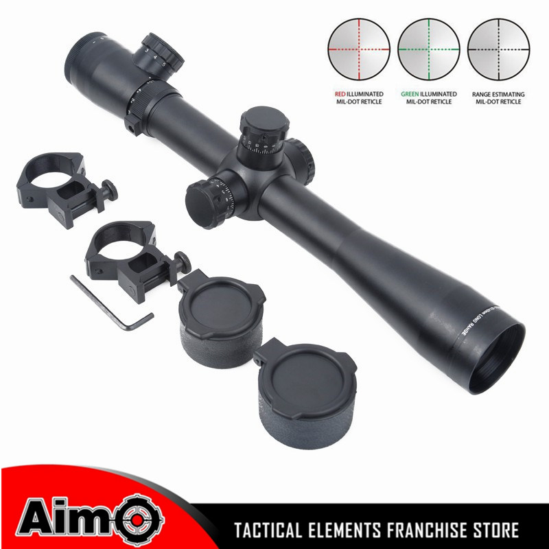 Aim-O Sniper Rifle Optics Collimator Sight Scope 3.5-10X40 SF Illuminated Aiming Device M3 Style 1Set AO 5305 magpul g lt p moe sniper rifle limited edition