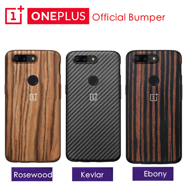 innovative design c5c21 f2ab3 US $40.79 15% OFF|Original OnePlus 5T Bumper Case Karbon Kevlar Rosewood  Ebony Wood + TPU Case Genuine Official One Plus 5T Case Protective  Shield-in ...