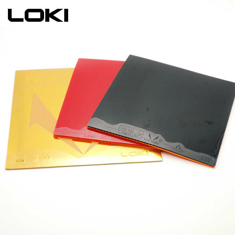 LOKI RXTON3 Red Sticky Table Tennis Rubber with Hard Orange Sponge Pips In Black Pingpong Rubber for Loop and Control
