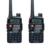 2 UNIDS Baofeng UV-5RE Plus Walkie Talkie de Banda Dual de Dos Vías Radio FM VOX comunicador 5 W 128CH UHF de radio de Doble Pantalla VHF