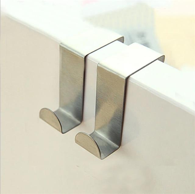 Tenske Hooks 6pcs Z Type Door Hook Hanger Bathroom Kitchen Closet No